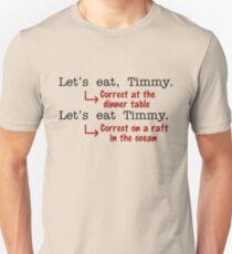 Funny Punctuation Grammar Humor Slim Fit T-Shirt