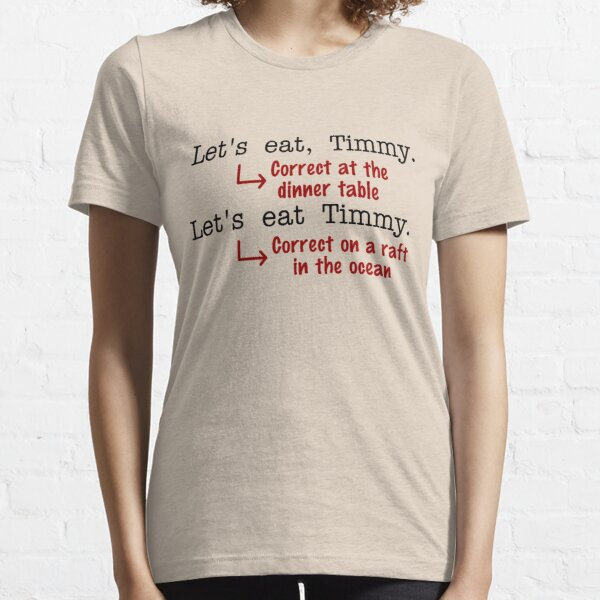 Funny Punctuation Grammar Humor Essential T-Shirt