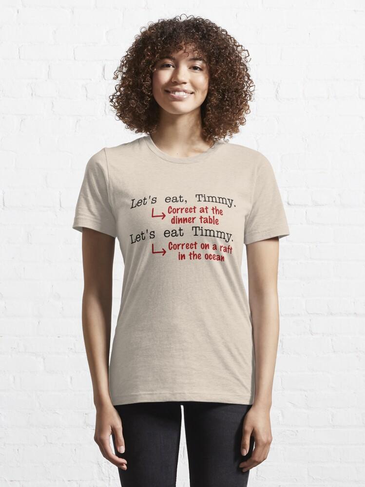 Alternate view of Funny Punctuation Grammar Humor Essential T-Shirt