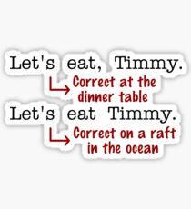 Funny Punctuation Grammar Humor Sticker