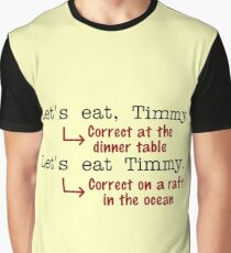 Funny Punctuation Grammar Humor Graphic T-Shirt