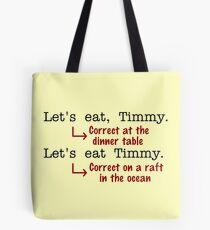 Funny Punctuation Grammar Humor Tote Bag