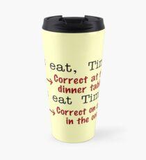 Funny Punctuation Grammar Humor Travel Mug