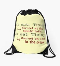 Funny Punctuation Grammar Humor Drawstring Bag
