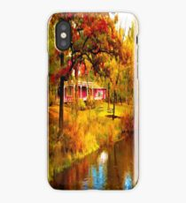 House on Pine River,Wisconsin U.S.A. iPhone Case/Skin