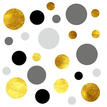 Gold, gray and black dote modern  background by lyovajan