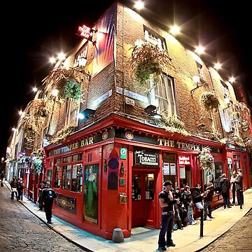 The Temple Bar - Dublin Ireland - Bright Lights In The Old Irish City by marksda1