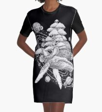 Space Whale Graphic T-Shirt Dress