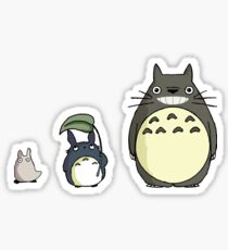 My neighbor Totoro! - Height comparison Sticker