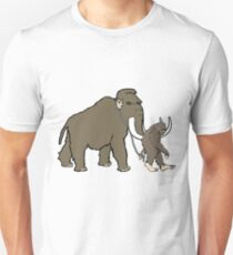 Bigfoot walking Woolley Mammoth Unisex T-Shirt