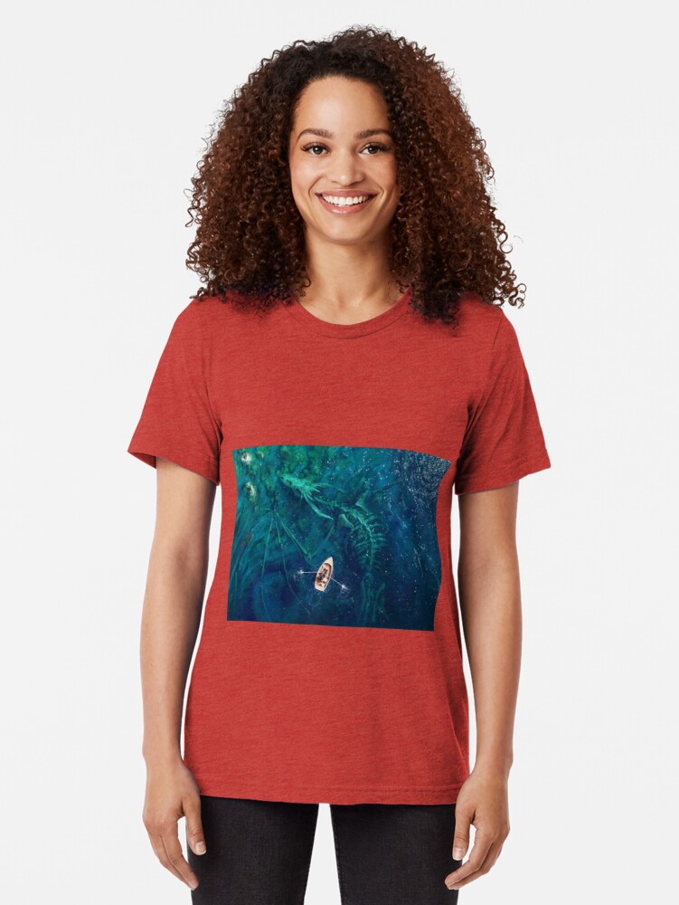 Alternate view of Dragon bones Tri-blend T-Shirt