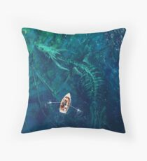 Dragon bones Throw Pillow