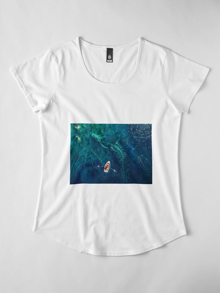 Alternate view of Dragon bones Premium Scoop T-Shirt