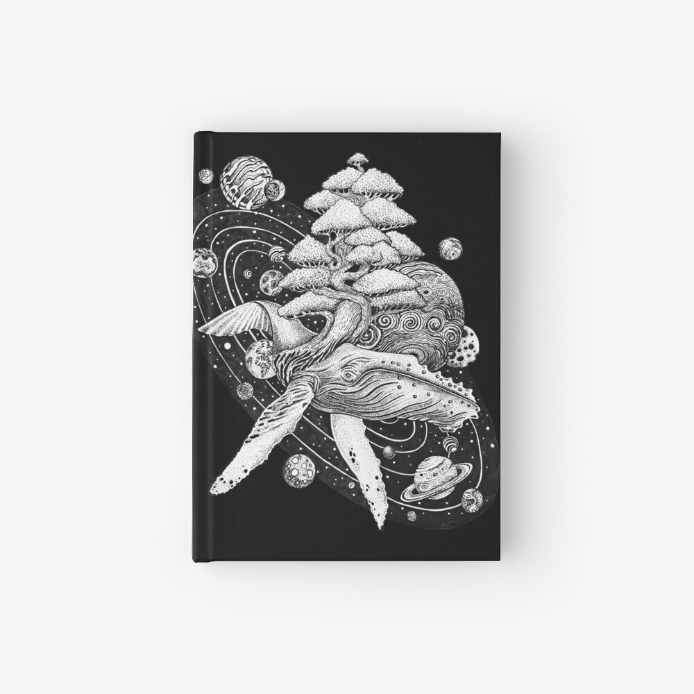 Space Whale Hardcover Journal