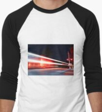 Long exposure train Men's Baseball ¾ T-Shirt