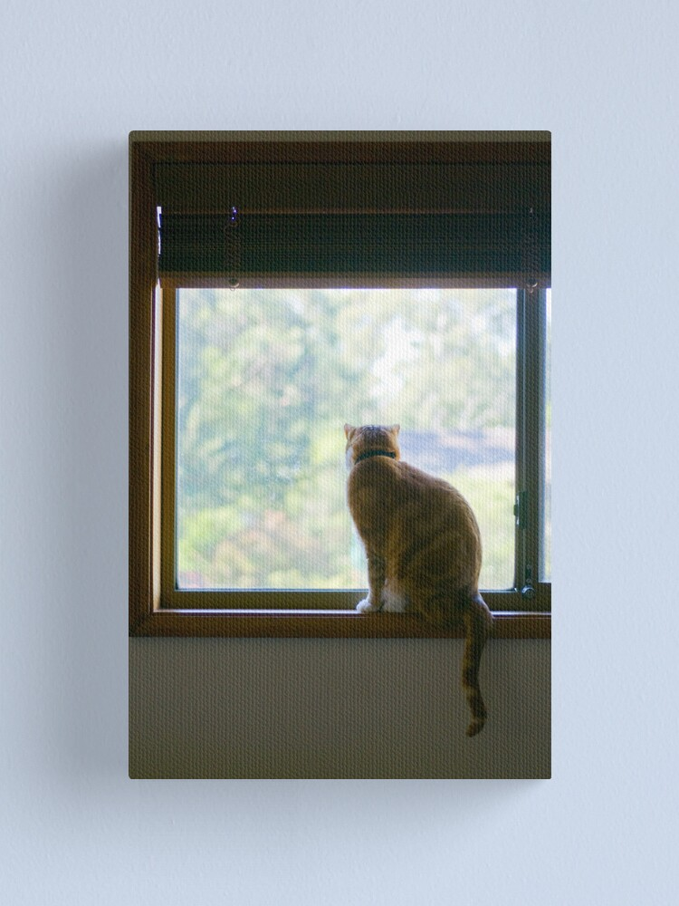Alternate view of Angus at the Window Canvas Print