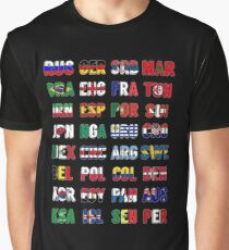 Russia 2018 qualified teams Graphic T-Shirt