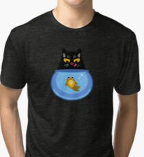 Funny Catfish Tshirt and Stickers - Cat Gifts for Catfish lovers everywhere! Tri-blend T-Shirt