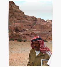 Vendor in Petra, Jordan Poster