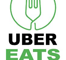 graphic about Printable Uber Decal titled Uber Eats Stickers Redbubble