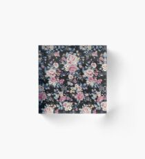 Floral Pattern Acrylic Block