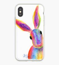 Hare Rabbit  PRiNTS ' ZIGGY ' by Shirley MacArthur iPhone Case