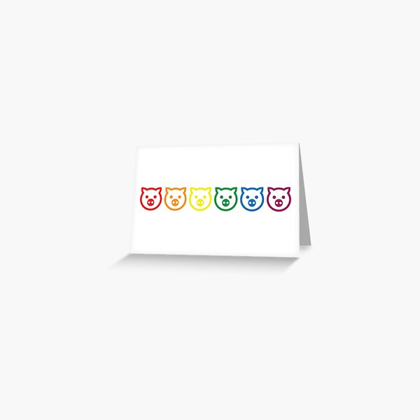 Oink [pride rainbow] Greeting Card