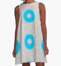 Blue bubble gum blot. A-Line Dress