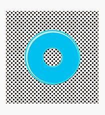 Blue bubble gum blot. Photographic Print