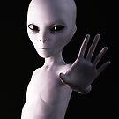 Alien hello by 3DArtRebel