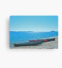 Canoeing Around Georgian Bay Canvas Print