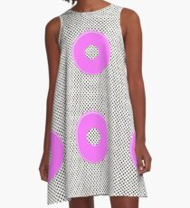 Pink bubble gum blot. A-Line Dress
