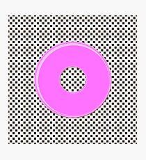 Pink bubble gum blot. Photographic Print