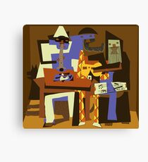 Picassos Musiker Leinwanddruck