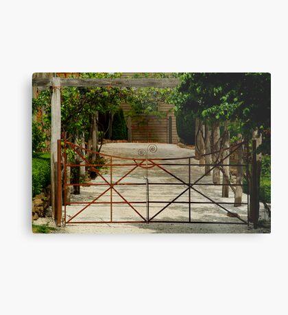 Villa Gate Metal Print