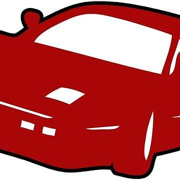 Ferrari sports car by huggymauve