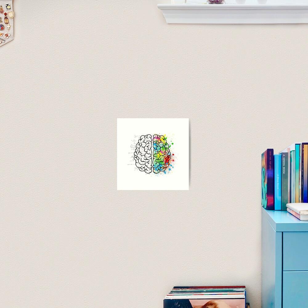 brain logic creative cool psychology colorful Art Print