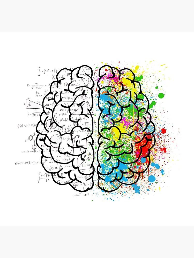 brain logic creative cool psychology colorful by untagged-shop