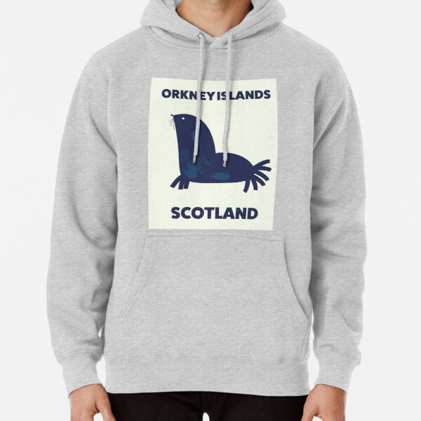 Orkney Islands, Scotland travel poster. Pullover Hoodie
