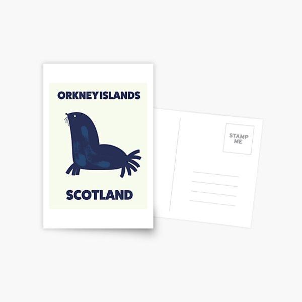 Orkney Islands, Scotland travel poster. Postcard
