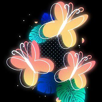 Synthwave Fluttershy Cutie Mark by TornadoTwist