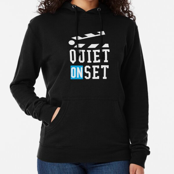 Quiet On Set - Filmmaking and Television Production Quiet On Set Lightweight Hoodie