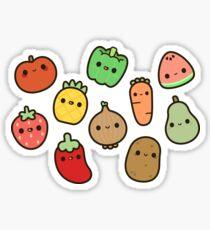 Cute fruit and veg Sticker