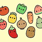 Cute fruit and veg by peppermintpopuk
