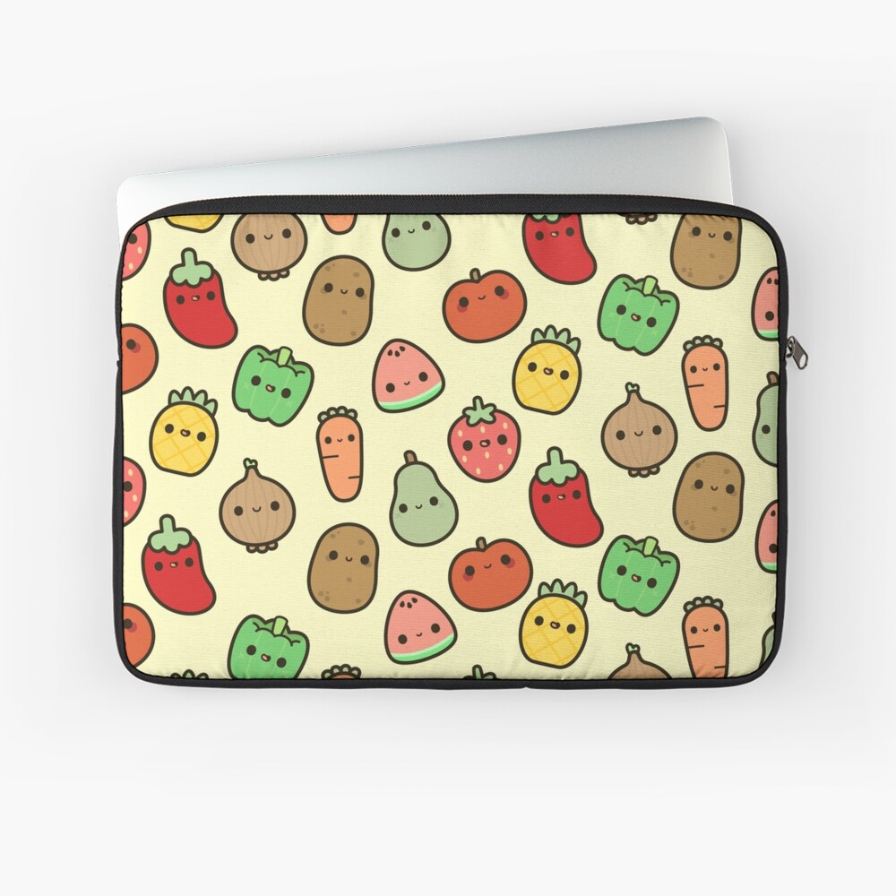 Cute fruit and veg Laptop Sleeve