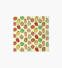Cute fruit and veg Art Board Print