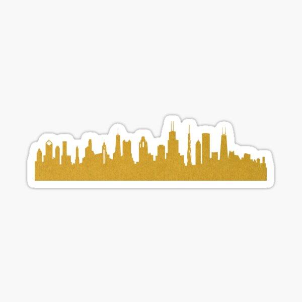 Golden Chicago Sticker