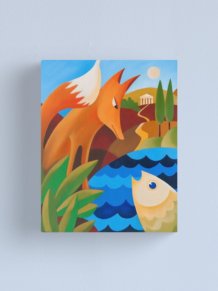 Alternate view of THE FOX AND THE FISH Canvas Print