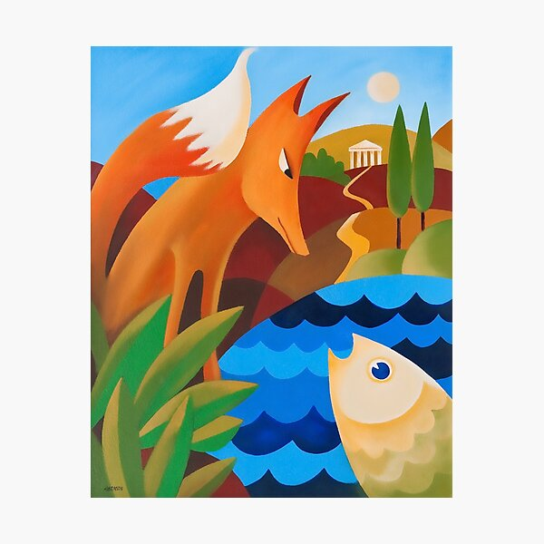 THE FOX AND THE FISH Photographic Print