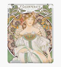 HD. F. Champenois, by Alphonse Mucha HIGH DEFINITION (Original colors) iPad Case/Skin